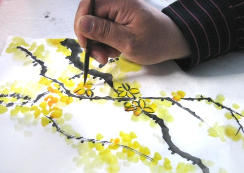 го хуа, цветущая ветвь жасмина