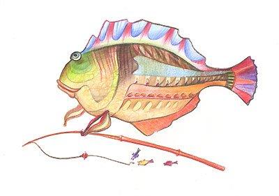 открытка с рыбкой