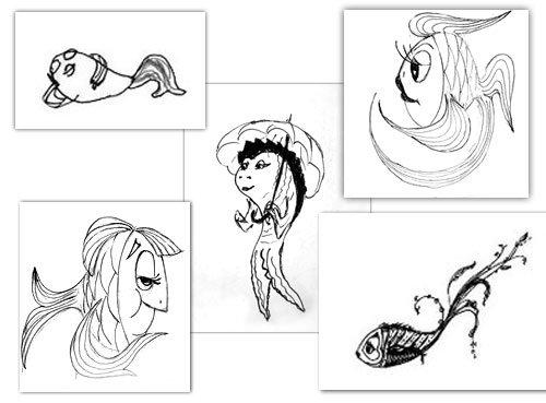рыбы картинки нарисованные