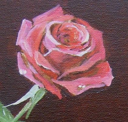 роза, живопись маслом