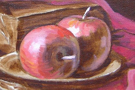 яблоки, масляная живопись