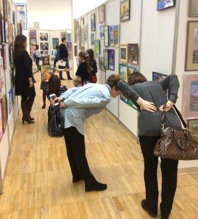 На экспозиции Российской Недели Искусств