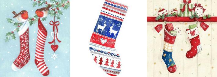 как рисовать носки для подарков