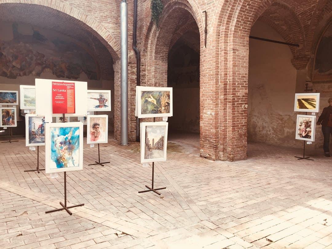 фестиваль акварели в фабриано_выставка