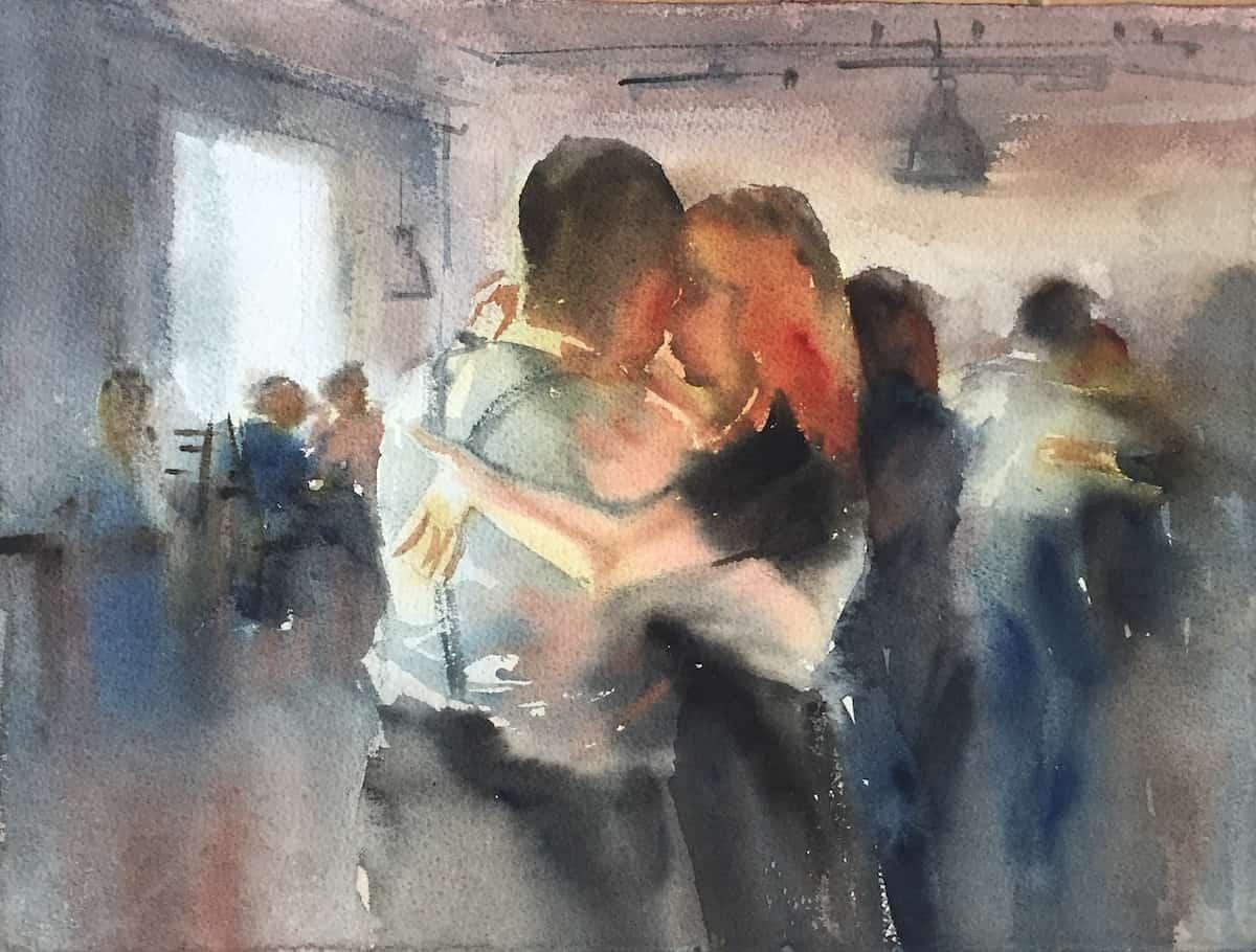 Марина Трушникова_Танго  акварель
