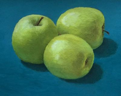 яблоки, школа рисования Марины Трушниковой