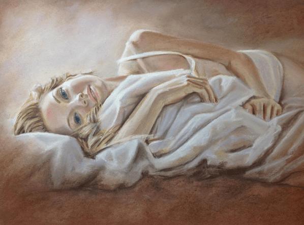 пастель, портреты, Оксана Забавина