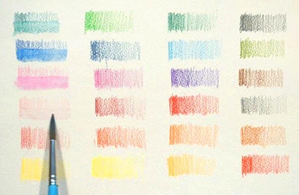 акварельные карандаши, выкрасы
