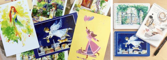 реклама своего творчества: печать на скетчбуках
