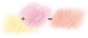 Изменение оттенка в рисовании карандашами