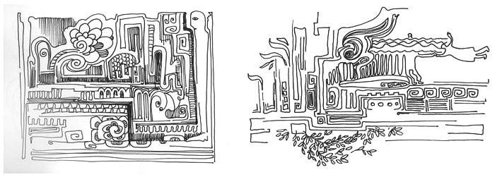 doodling, дудлинг рисунки, дудл