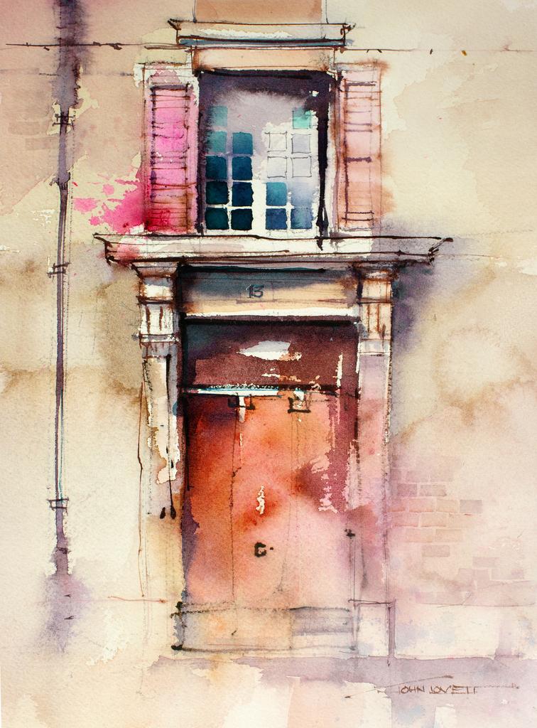 Цветовой контраст в живописи, акварель Джон Ловетт