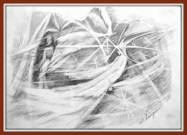 """Позия простого карандаша, авторская техника """"Карандашные фантазии"""""""