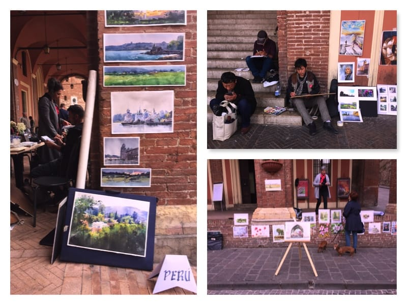 фестиваль акварели в фабриано_уличные выставки