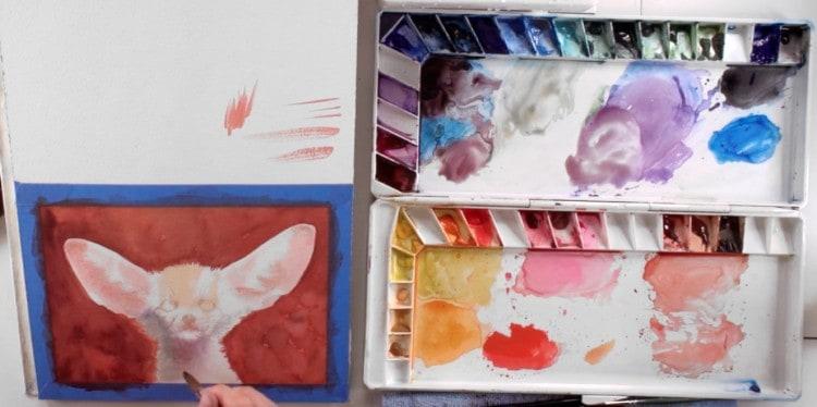 поэтапный мастер-класс рисования лисы