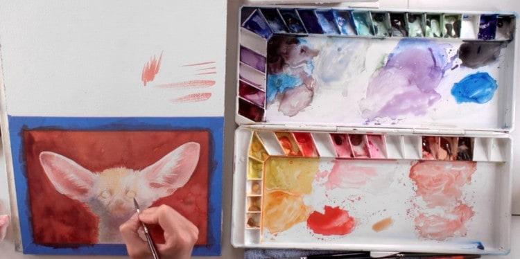 рисуем животных красками
