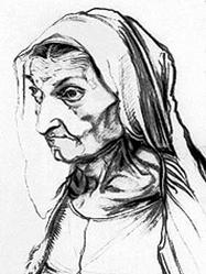 """Альбрехт Дюрер, """"Портрет матери"""""""
