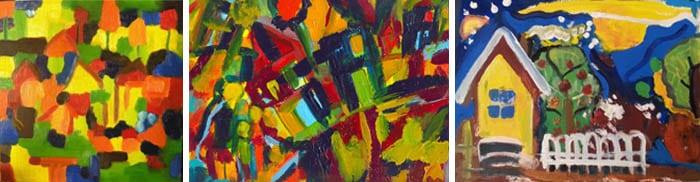 Картина В.Кандинского и две работы участников Мастер-группы Школы М.Трушниковой. Сможете определить работу художника?