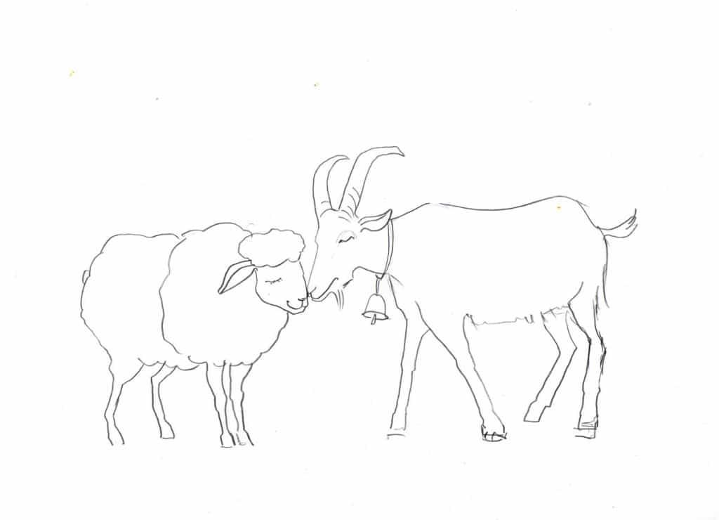 символ года овца и коза