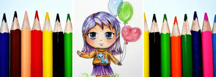 mk_chibi_M Как нарисовать милую чиби девочку карандашом поэтапно