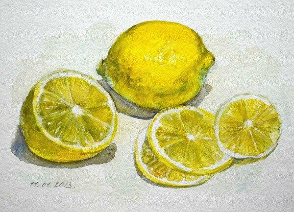 Композиция с лимонами. Марина Трушникова