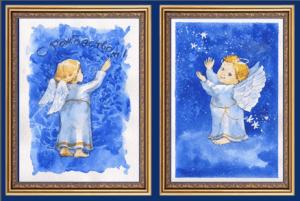Ангел Рождества: акварельный мастер-класс