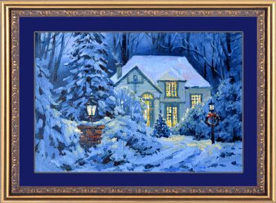 Рождественский домик по мотивам Томаса Кинкейда