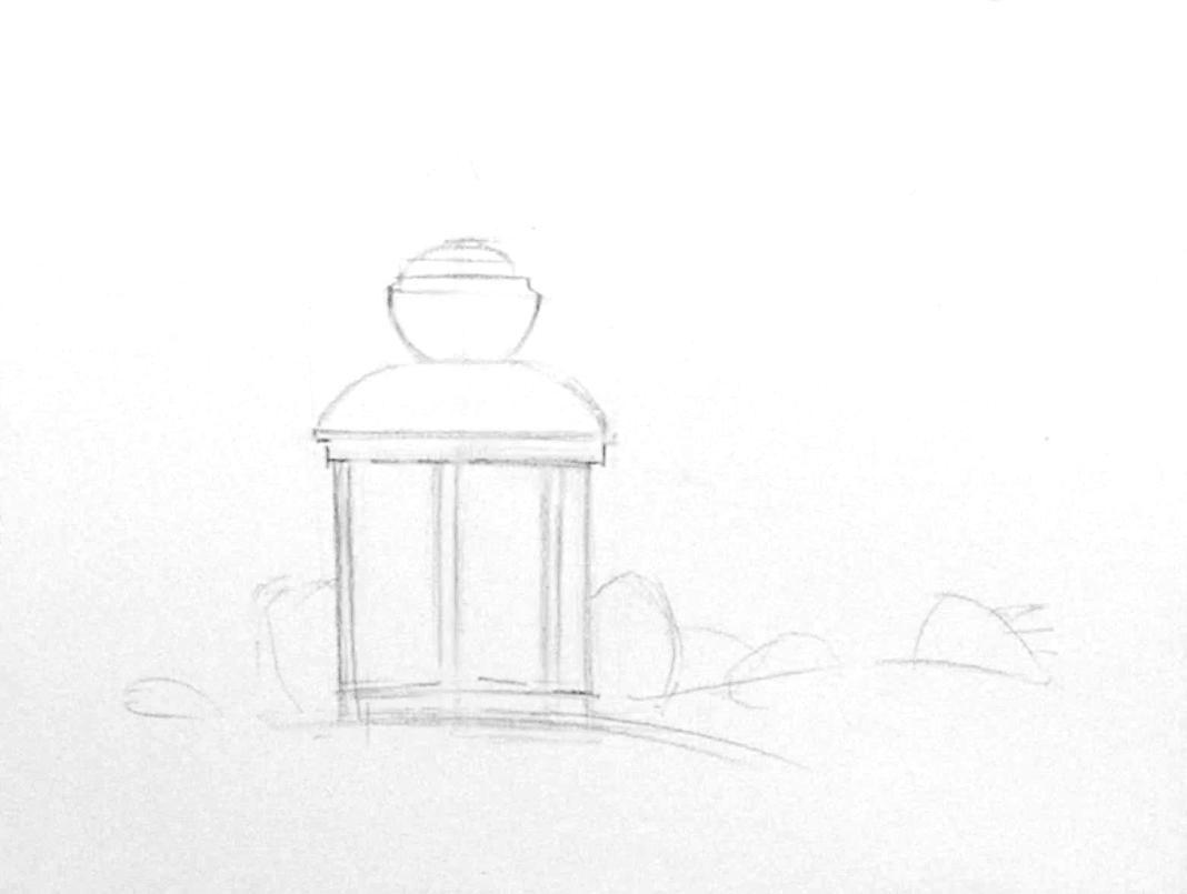акварелью