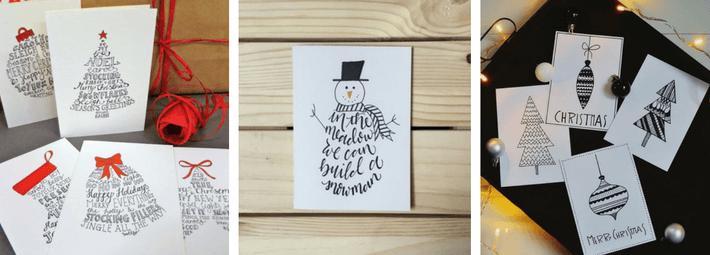 новогодний дудлинг, дудлинг для открыток