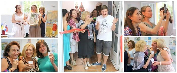 пленэр в Черногории_открытие выставки