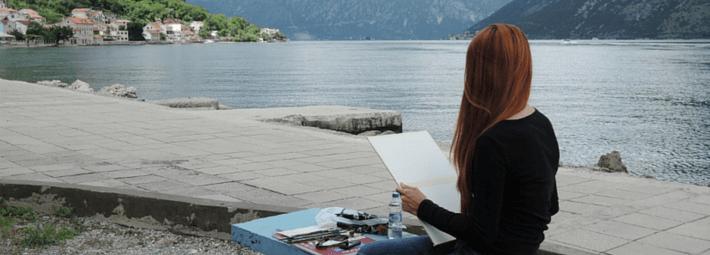 акварельный пленэр в Черногории