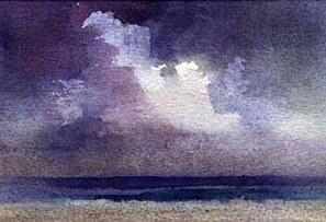 рисование облаков акварелью John Lovett