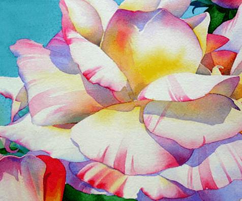пишем розу акварелью, мастер-класс